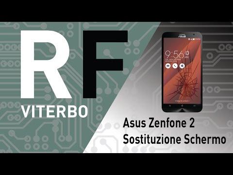 🔧 Asus Zenfone 2 (Z00AD - ZE551ML) sostituzione schermo LCD. Asus Zenfone 2 Screen repair.