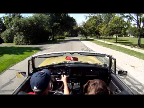 Weston Takes A Ride In The 1973 MGB