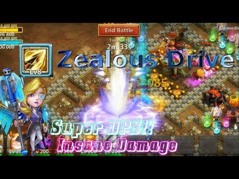 Zealous Drive Athene INSANE DAMAGE! Solo Dungeons - Castle Clash