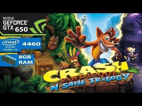 Crash Bandicoot N. Sane Trilogy | GTX 650 | i5 4460 | 8gb RAM | - Продолжительность: 7:19