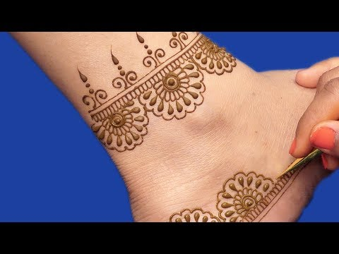 Mehndi Design for Legs | New Floral Jewelry Mehndi Design by Sonia Goyal #306