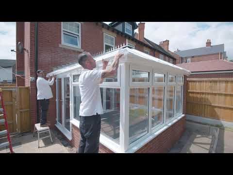 How to install the roof and glazing on your self build conservatory