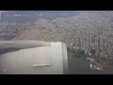 Flight from Athens with  Aegean Airlines Airbus A320  Landing At Thessaloniki Airport [HD]