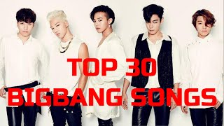 [TOP 30] BIGBANG SONGS by MiniKpop (10TH ANNIVERSARY SPECIAL)