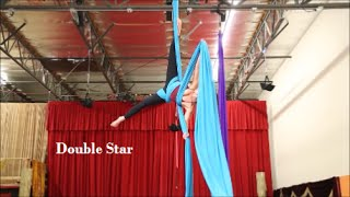 Double Star Drop - Aerial Silk Tutorial - with Aerial Physique