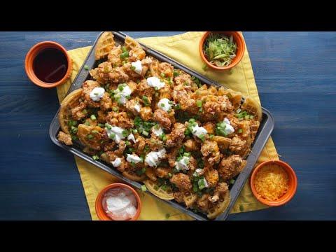 Chicken And Waffles Nachos • Tasty
