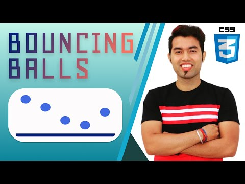 🔴 Create Awesome Bouncing Balls Animation Effect using CSS  | Free Source Code | 2021