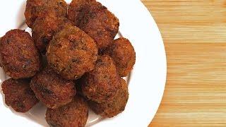 Постные тефтели из картофеля и гречки