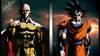 「Goku VS Saïtama AMV」  Dragon Ball Super VS One Punch Man Fight HD