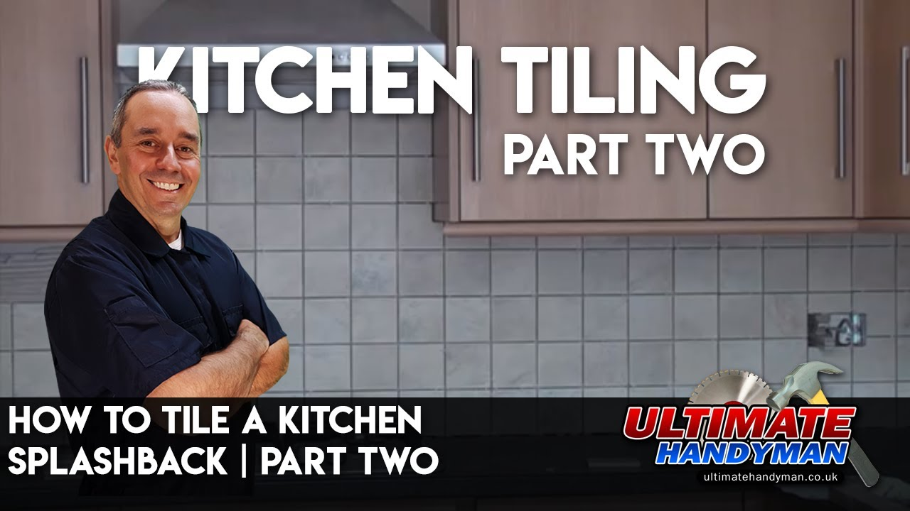 How to tile a kitchen splashback part two - YouTube