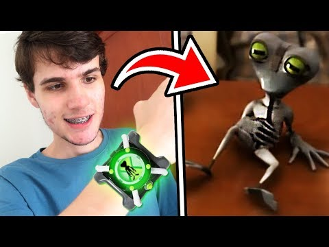 USEI O OMNITRIX DO BEN 10 E ME TRANSFORMEI NO MENOR ALIEN DO MUNDO !