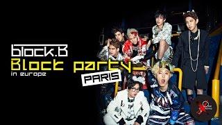 BLOCK B at Bataclan in Paris - Block party in Europe 2015 - file d