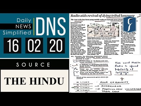 Daily News Simplified 16-02-20 (The Hindu Newspaper - Current Affairs - Analysis for UPSC/IAS Exam)