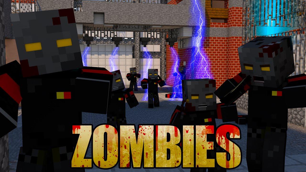 Minecraft ZOMBIES MOD Showcase ZOMBIE APOCALYPSE MOD HORROR MOD COD ZOMBIES YouTube