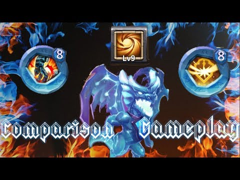 Lavanica| 9 Sacred Light | 8 Stone Skin | 8 Survival | Comparison Gameplay | Castle Clash