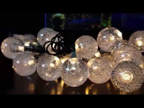 Review and How to of easyDecor Outdoor Solar Powered String Lights, easyDecor 8Modes 30 LED