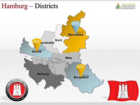 Hamburg City Germany Presentation Maps