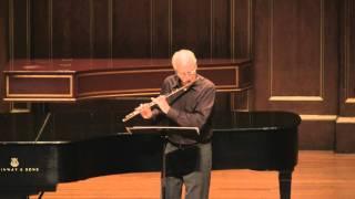 Fenwick Smith plays Feld's Four Pieces for Flute alone (Producer: SiMon)