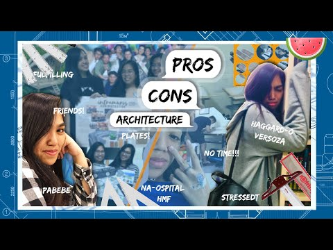 PROS and CONS of studying architecture 😌😣    architecture student Philippines    Micaellaaa