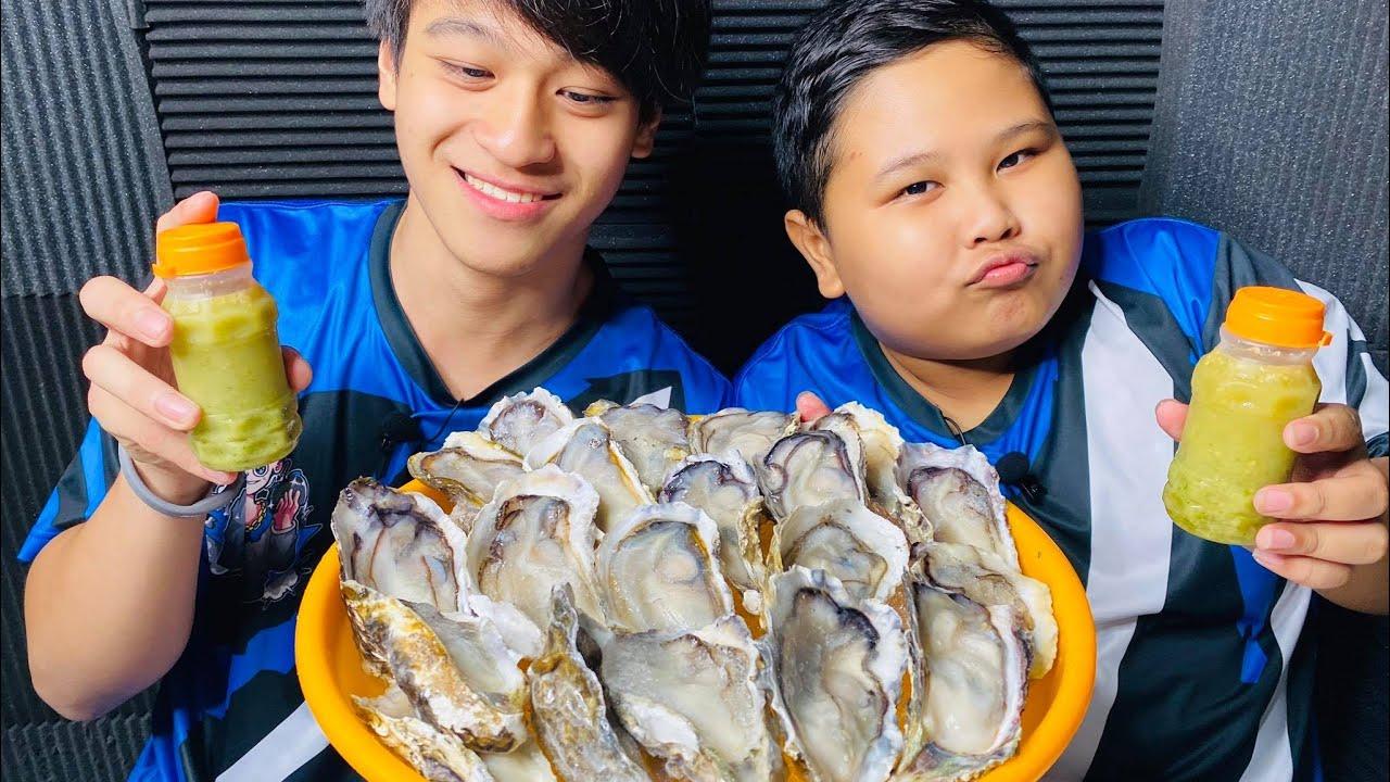 | ASMR eating | หอยนางรมยักษ์ 20 ตัว!!