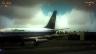 Flight Simulator X. Turbulent Landing in Trondheim Vaernes