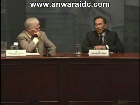 Anwar Sokong Two State Solution (Iktiraf Israel) Di Woodrow Wilson Centre