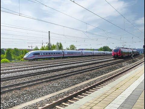 Wettrennen an der S-Bahn Station Hirschgarten in München..............