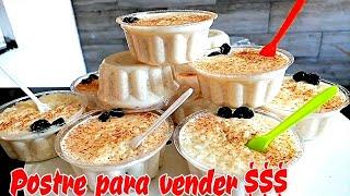 POSTRE PARA VENDER|| POSTRE frió SIN horno para negocio con POCOS ingredientes (GELATINA DE ARROZ)