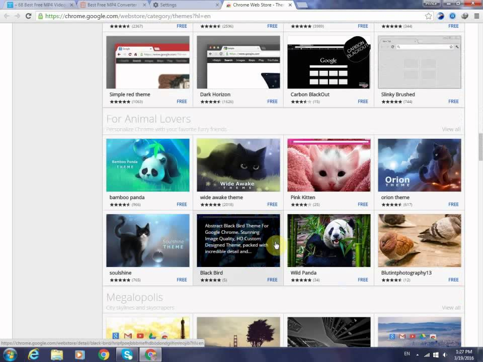 How To Change Google Chrome Theme Background Image 2016