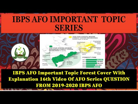 IBPS AFO Important Topic Forest Cover With Explanation 16th Video Of AFO Series