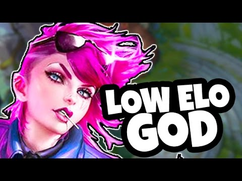 LOW ELO GOD - Great SOLO CARRY Champ - How to Play Vi Jungle League of Legends