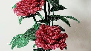 """Розы из бисера композиция """"Пламя Любви"""" Обзор. Beadwork. Art. Цветы из бисера."""