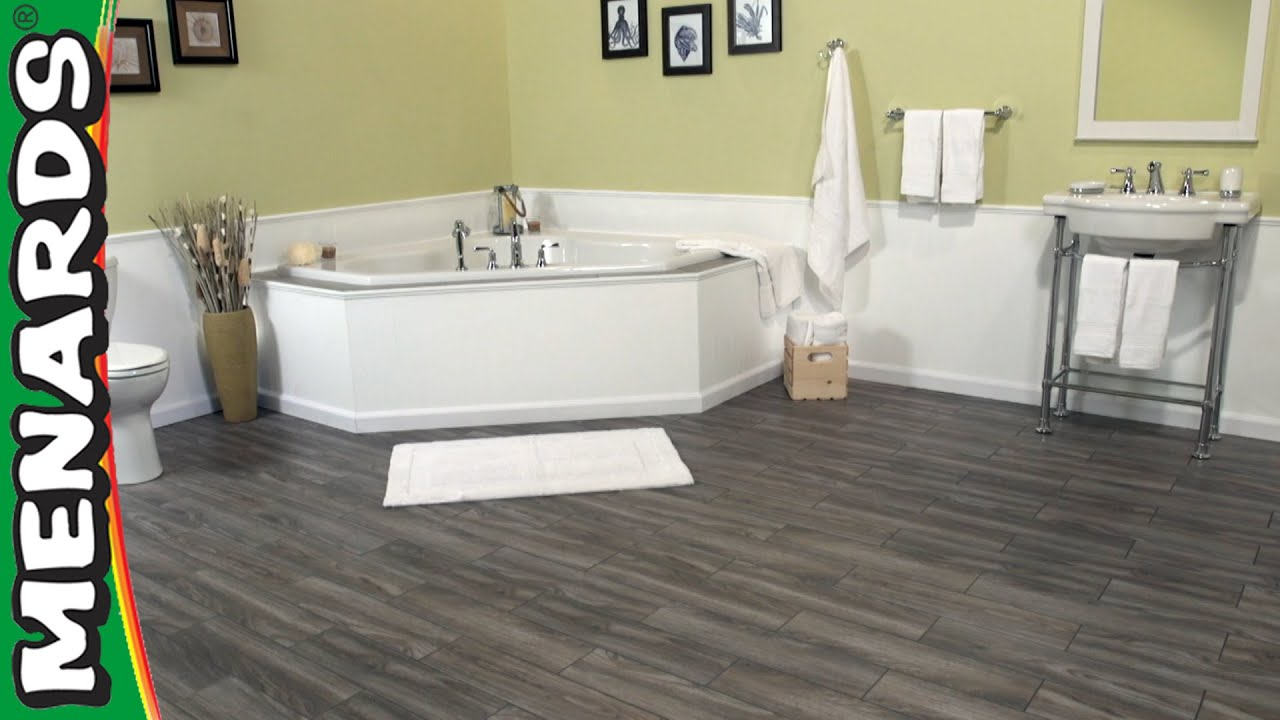 Install SnapStone Floor Tiles Menards YouTube - Click lock porcelain tile