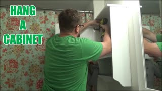 How to Hang a Bathroom Cabinet