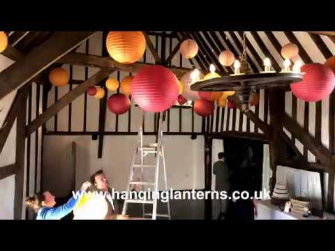Wedding Lanterns at Blackstock Barn