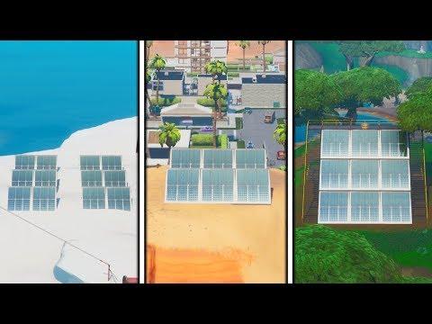 """""""visiter-un-champ-de-panneaux-solaires-dans-la-neige,-le-desert-et-la-jungle""""-sur-fortnite-!"""