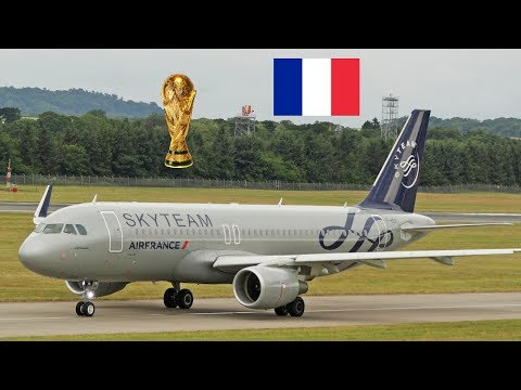 FIFA World Cup Champions 2018 France | A320 F-HEPI Skyteam Edinburgh Airport