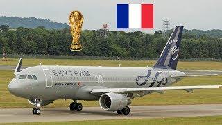 FIFA World Cup Champions 2018 France | A320 F-HEPI Skyteam Edinburgh Airport