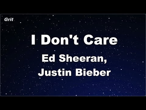 I Don't Care - Ed Sheeran & Justin Bieber Karaoke 【No Guide Melody】 Instrumental