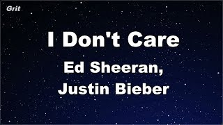 I Don't Care - Ed Sheeran & Justin Bieber Karaoke 【No Guide Melody】 Instrumental