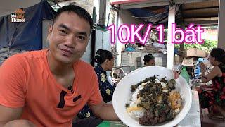 Chuyên làm cỗ làng thất nghiệp chuyển sang bán bún ngon rẻ không ngờ tại chợ Tam Hưng #hnp