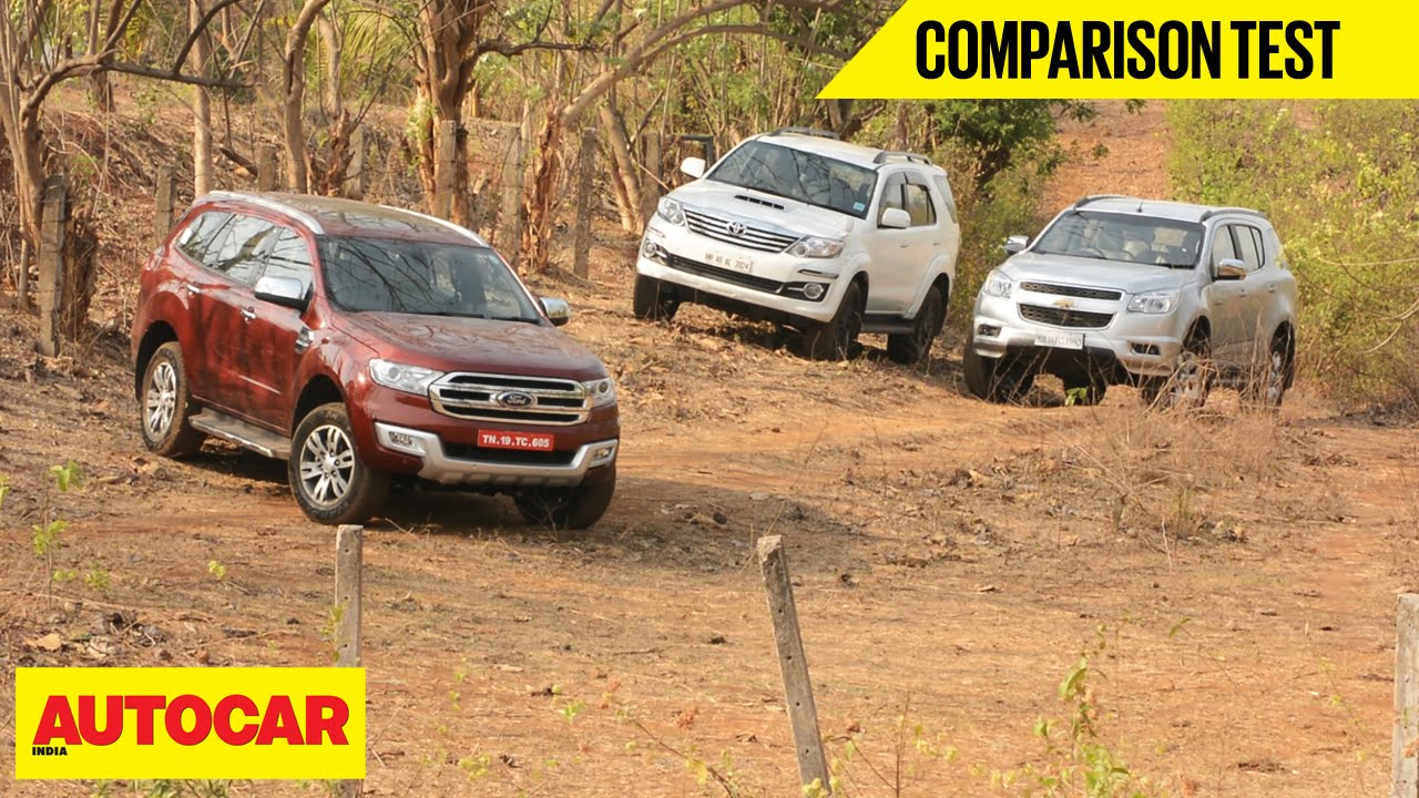 Ford Endeavour VS Chevrolet Trailblazer VS Toyota Fortuner