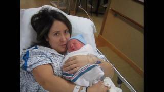 Newborn baby! Mommy gets to hold baby for the first time.