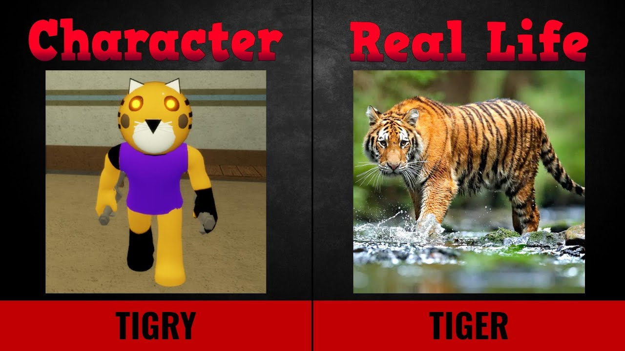 Piggy Skins vs Real Life Characters