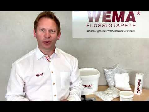 Testen Sie WEMA Flüssigtapete