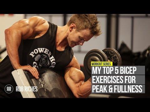 TOP 5 Bicep Peak Exercises | Rob Riches