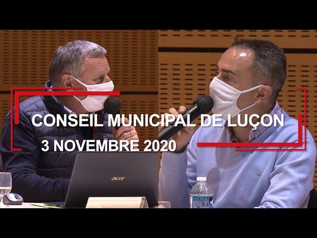 Conseil municipal de Luçon du 3 novembre 2020