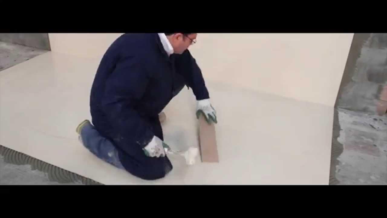 Thin porcelain floor installation youtube thin porcelain floor installation dailygadgetfo Choice Image