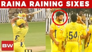 CSK: Raina Blasting Continuous Sixes | IPL 2018