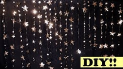 DIY Cheap and Easy Decorative Hanging Stars ~ Cat and a Lizzard